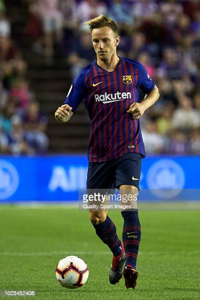 Ivan Rakitic of FC Barcelona in action during the La Liga match between Real Valladolid CF and FC Barcelona at Estadio Jose Zorrilla on August 25...