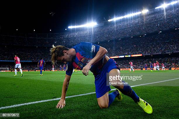 Ivan Rakitic of FC Barcelona looks on during the La Liga match between FC Barcelona and Deportivo Alaves at Camp Nou stadium on September 10 2016 in...