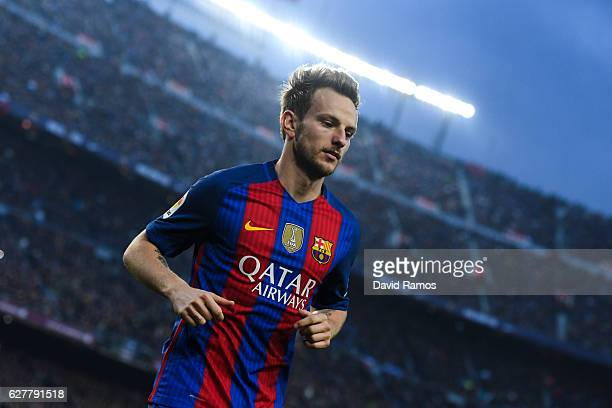 Ivan Rakitic of FC Barcelona looks on during the La Liga match between FC Barcelona and Real Madrid CF at Camp Nou stadium on December 3 2016 in...