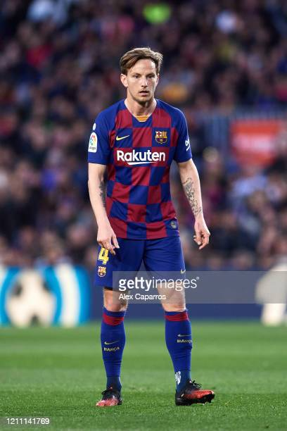 Ivan Rakitic of FC Barcelona looks on during the Liga match between FC Barcelona and Real Sociedad at Camp Nou on March 07 2020 in Barcelona Spain