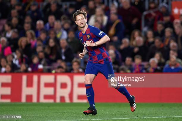 Ivan Rakitic of FC Barcelona runs during the Liga match between FC Barcelona and Real Sociedad at Camp Nou on March 07 2020 in Barcelona Spain