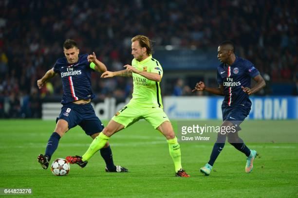 Ivan RAKITIC / Thiago MOTTA / Blaise MATUIDI Paris Saint Germain / Barcelone Champions League Photo Dave Winter / Icon Sport