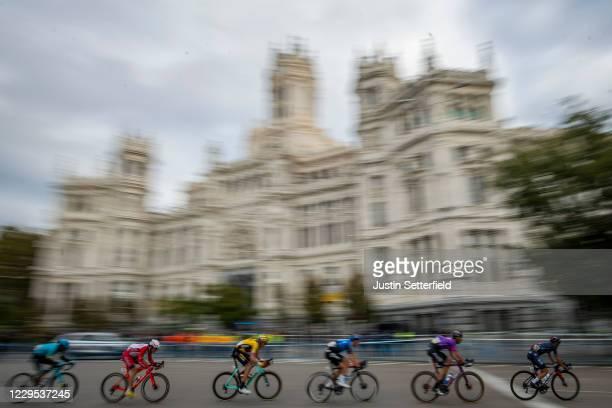 Ivan Ramiro Sosa Cuervo of Colombia and Team INEOS - Grenadiers / Jesus Ezquerra Muela of Spain and Team Burgos - BH / Ben Dyball of Australia and...