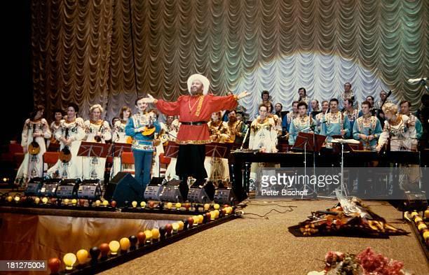 Ivan Rebroff BalalaikaOrchester 'Ossipoff' Konzert Moskau/Russland Auftritt Bühne Sänger 'Dynamo'Sportpalast