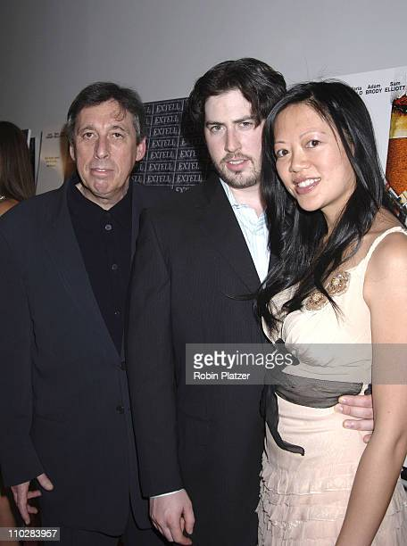 "Ivan Reitman, Jason Reitman and guest during ""Thank You For Smoking"" New York Premiere - Inside Arrivals - March 12, 2006 at Museum of Modern Art in..."