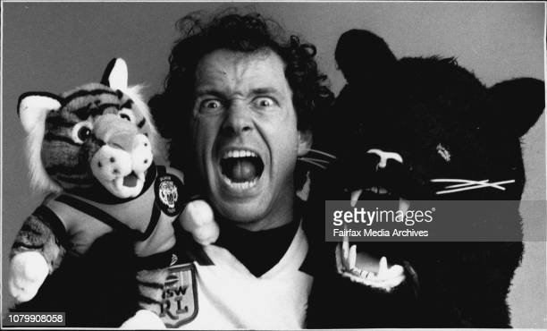 Ivan Repin Balmain Tigers and Penrith Panthers professional MascotThe man from Animal Crackers Costume Hire Ivan Repin is feeling schizophrenicHe...