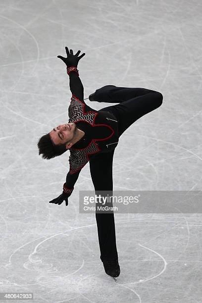 Ivan Righini of Italy competes in the Men's Short Program during ISU World Figure Skating Championships at Saitama Super Arena on March 26 2014 in...