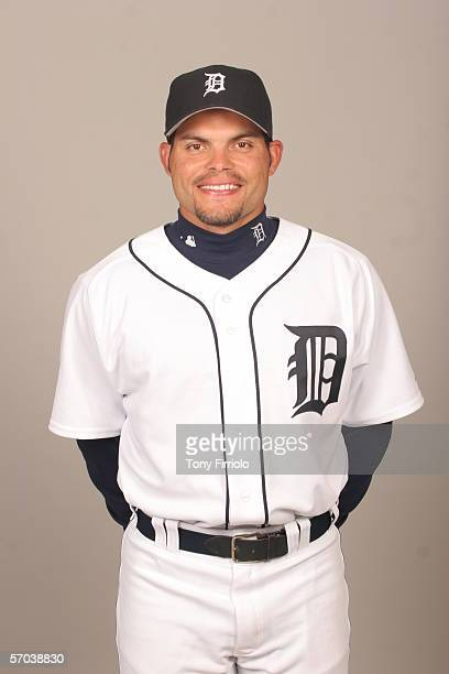 Ivan Rodriguez of the Detroit Tigers during photo day at Marchant Stadium on February 26 2006 in Lakeland Florida