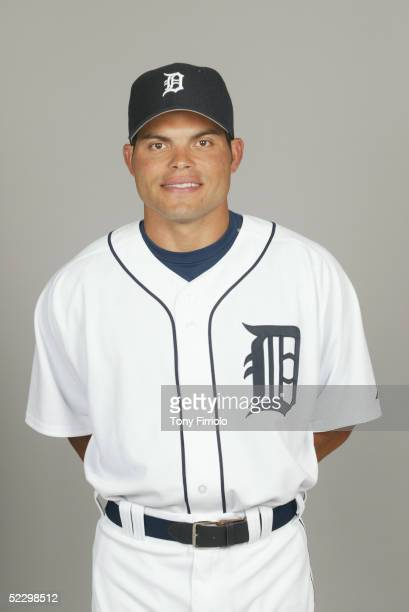 Ivan Rodriguez of the Detroit Tigers poses for a portrait during photo day at Marchant Stadium on February 27 2005 in Lakeland Florida