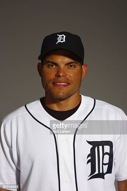 Ivan Rodriguez of the Detroit Tigers poses for a portrait during Photo Day on February 23 2008 at Joker Marchant Stadium in Lakeland Florida