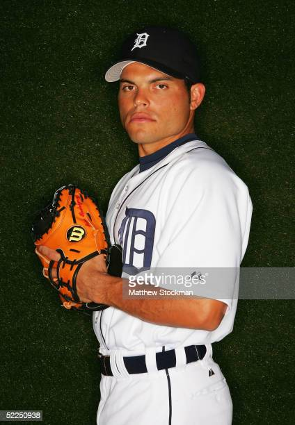 Ivan Rodriguez of the Detroit Tigers poses for a portrait during Tigers Photo Day at Joker Marchant Stadium on February 27 2005 in Lakeland Florida