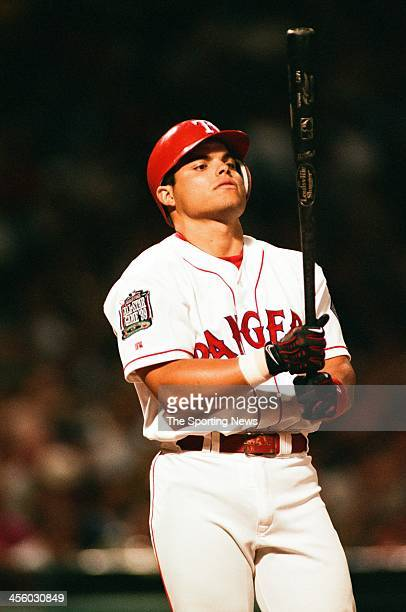 Ivan Rodriguez of the Texas Rangers during the AllStar Game on July 13 1999 at Fenway Park in Boston Massachusetts