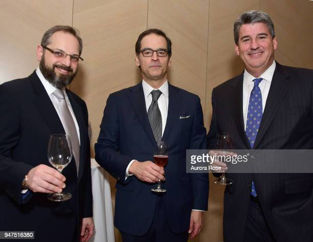 Ivan Sacks Paulo Baia and Tim O'Hara attend Launch Of New Entity Withers Global Advisors at 432 Park Avenue on April 3 2018 in New York City Ivan...