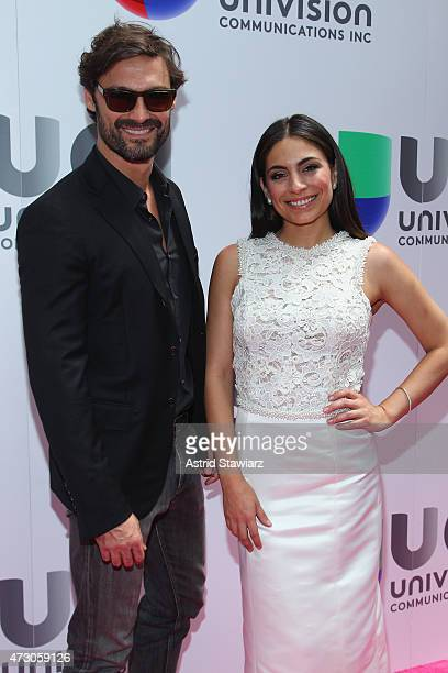 Ivan Sanchez and Ana Brenda attend Univision's 2015 Upfront at Gotham Hall on May 12 2015 in New York City