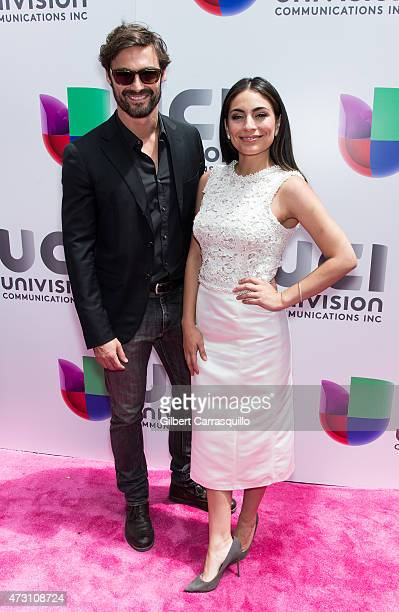 Ivan Sanchez and Ana Brenda attends Univision's 2015 Upfront at Gotham Hall on May 12, 2015 in New York City.