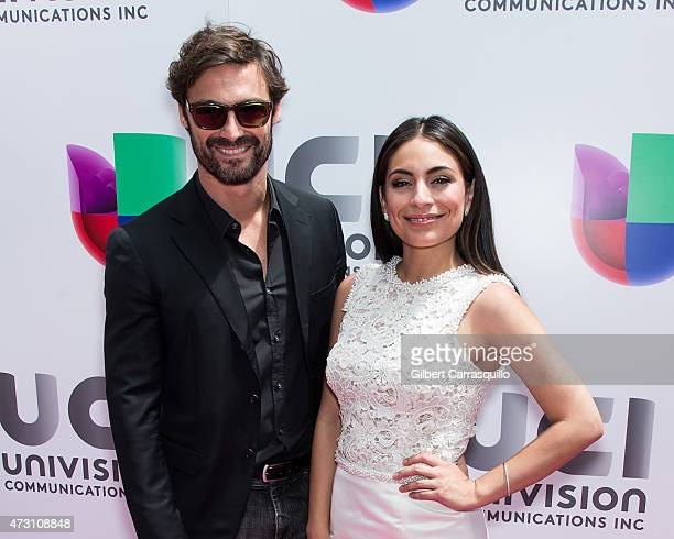 Ivan Sanchez and Ana Brenda attends Univision's 2015 Upfront at Gotham Hall on May 12 2015 in New York City