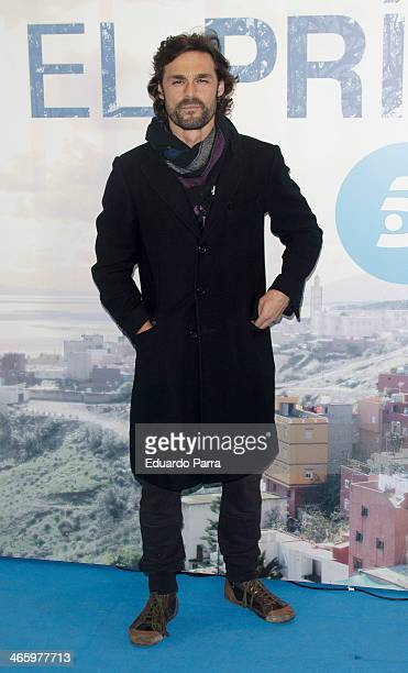 Ivan Sanchez attends 'El principe' premiere at Callao cinema on January 30 2014 in Madrid Spain