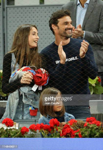 Ivan Sanchez attends the victory of Rafael Nadal of Spain during day 7 of the Mutua Madrid Open at La Caja Magica on May 10, 2019 in Madrid, Spain.