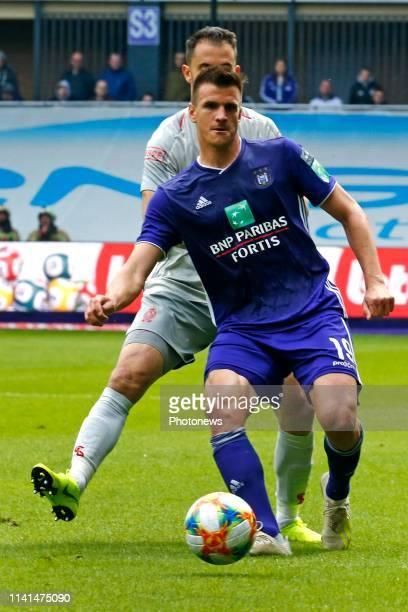 Ivan Santini forward of Anderlecht pictured during the Jupiler Pro League match between RSC Anderlecht and Standard de Liege at the Constant Vanden...