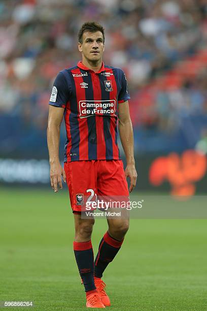 Ivan Santini of Caen during the French Ligue 1 match between SM Caen an Bastia at Stade Michel D'Ornano on August 27 2016 in Caen France