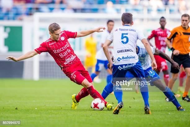 Ivan Saponjic forward of SV Zulte Waregem and Anderson Esiti midfielder of KAA Gent during the Jupiler Pro League match between KAA Gent and SV Zulte...