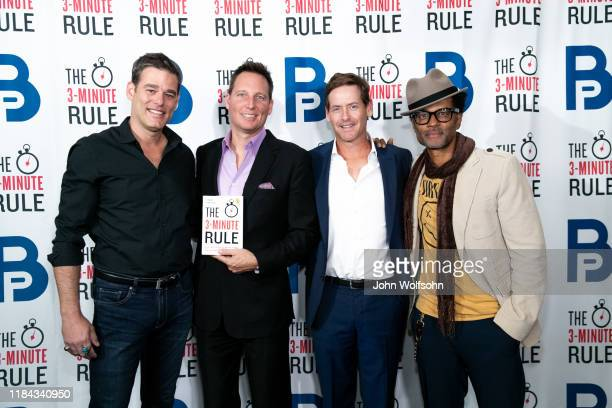 Ivan Sergei Brant Pinvidic Howard T Owens and Eric Bennet attend a red carpet event featuring business influencers celebrities and leading network...