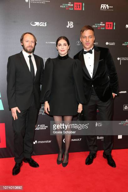 Ivan Shvedoff Amira Casar and Alexander Fehling during the European Film Awards at Teatro de la Maestranza on December 15 2018 in Seville Spain
