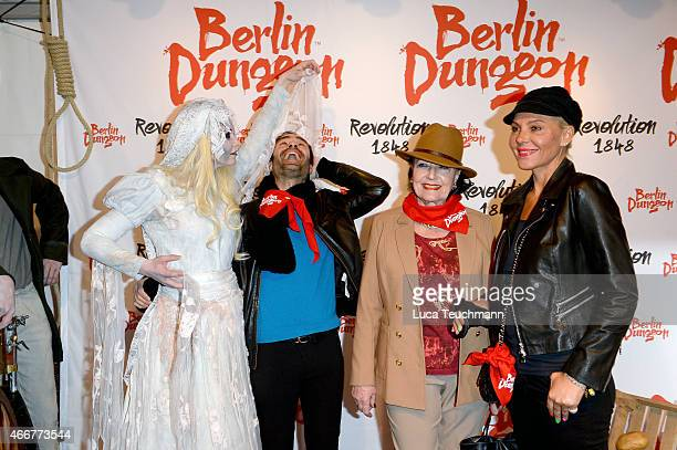 Ivan Strano Baerbel Wierichs and Natascha Ochsenknecht attend 'Revolution 1848' Show Premiere at Berlin Dungeon on March 18 2015 in Berlin Germany
