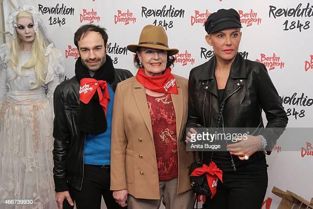 Ivan Strano Baerbel Wierichs and Natascha Ochsenknecht attend the 'Revolution 1848' Show premiere at Berlin Dungeon on March 18 2015 in Berlin Germany