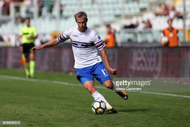 Ivan Strinic of UC Sampdoria in action during the Serie A football match between Torino Fc and Uc Sampdoria