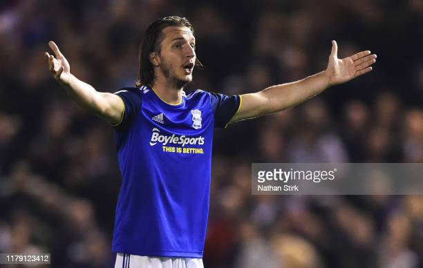 Ivan Sunjic of Birmingham reacts during the Sky Bet Championship match between Birmingham City and Middlesbrough at St Andrew's Trillion Trophy...