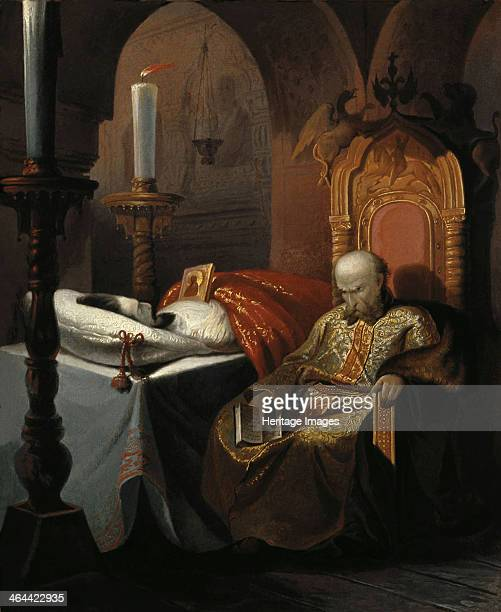 Ivan the Terrible and his son Ivan on Friday November 16th Shustov Nikolai Semyonovich Found in the collection of the State Art Museum Tula