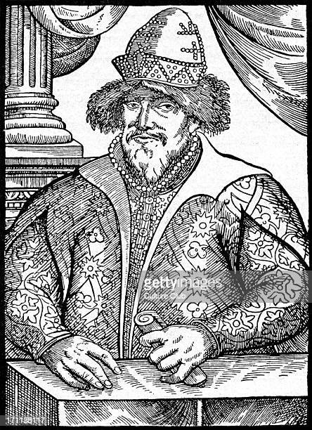 Ivan the Terrible - portrait of the Russian czar / tsar. Ivan IV of Russia: 25 August 1530 - 18 March 1584. First ruler of Russia to assume the title...