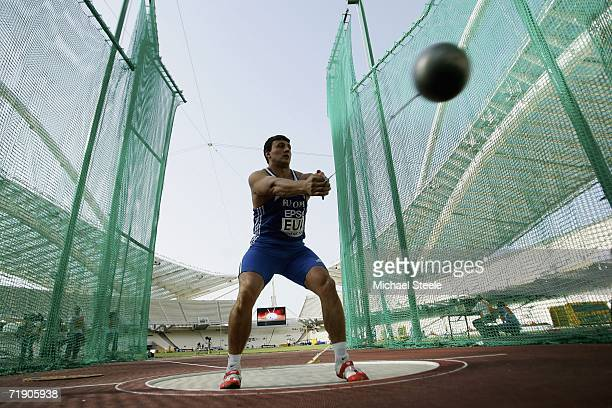Ivan Tikhon of Belerus winds up to throw the hammer for team Europe during the 10th IAAF World Cup at the Olympic Stadium on September 16 2006 in...
