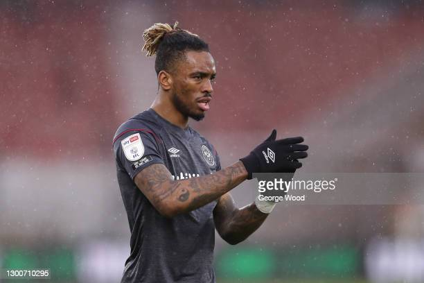 Ivan Toney of Brentford applauds during the Sky Bet Championship match between Middlesbrough and Brentford at Riverside Stadium on February 06, 2021...