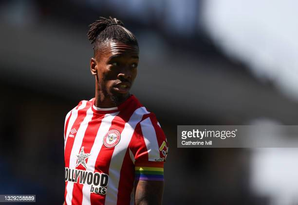 Ivan Toney of Brentford during the Pre-Season Friendly between AFC Wimbledon and Brentford at Plough Lane on July 17, 2021 in Wimbledon, England.
