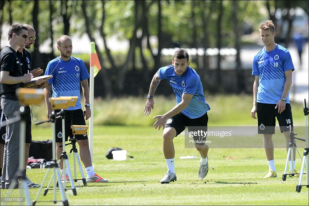 Ivan Trickovski of Club Brugge KV in action during the second day of a Club Brugge summer camp training session on July 9, 2013 in Manchester, England.