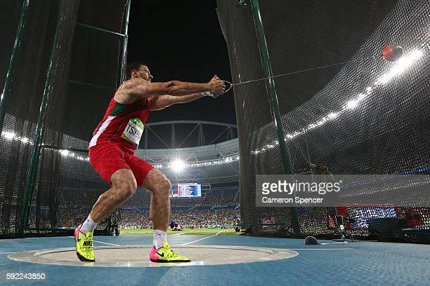 Ivan Tsikhan of Belarus competes in the Men's Hammer Throw Final on Day 14 of the Rio 2016 Olympic Games at the Olympic Stadium on August 19 2016 in...