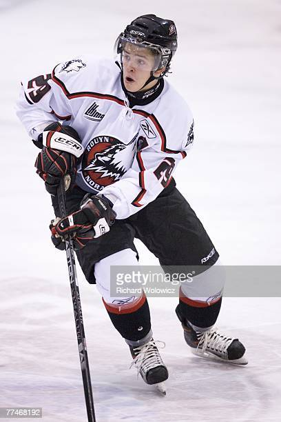 Ivan Vishnevskiy of the Rouyn-Noranda Huskies skates during the game against the Lewiston Maineiacs at the Dave Keon Arena on October 19, 2007 in...
