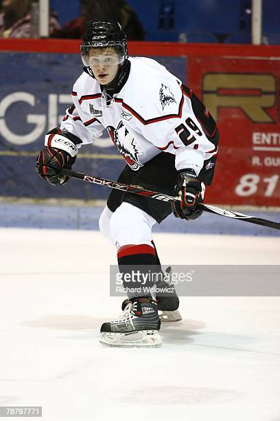 Ivan Vishnevskiy of the Rouyn-Noranda Huskies skates during the game against the Drummondville Voltigeurs at the Centre Marcel Dionne on January 04,...