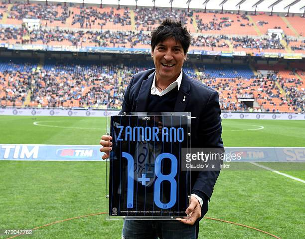 Ivan Zamorano attends Serie A match between FC Internazionale Milano and AC Chievo Verona at Stadio Giuseppe Meazza on May 3 2015 in Milan Italy