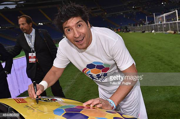 Ivan Zamorano attends the Interreligious Match For Peace at Olimpico Stadium on September 1 2014 in Rome Italy