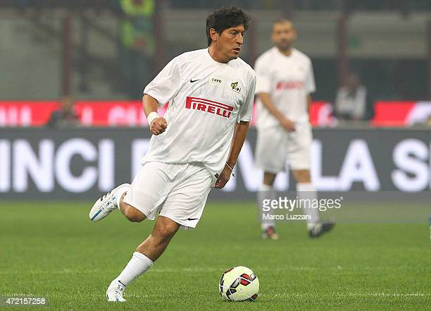 Ivan Zamorano in action during the Zanetti and friends Match for Expo 2015 at Stadio Giuseppe Meazza on May 4 2015 in Milan Italy