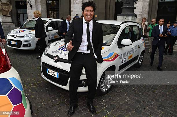 Ivan Zamorano looks on prior the Interreligious Match for Peace at Exedra Hotel on September 1 2014 in Rome Italy