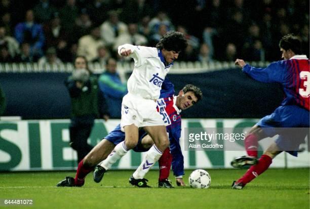 Ivan ZAMORANO / RICARDO Paris Saint Germain / Real Madrid 1/4 Finale retour Coupe des Vainqueurs de Coupe Photo Alain Gadoffre / Icon Sport