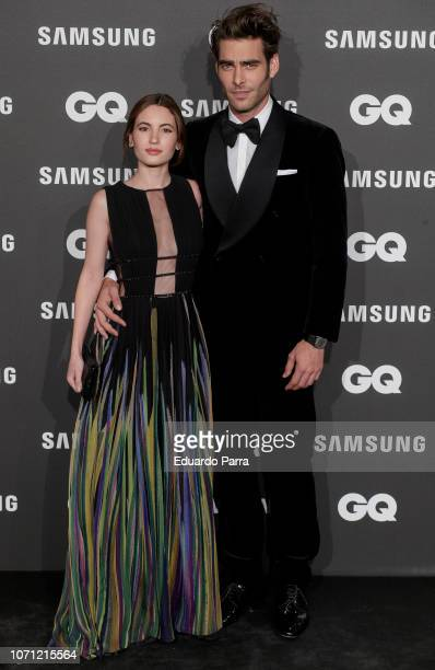 Ivana Baquero and Jon Kortajarena attend the 'GQ Men of the Year' awards photocall at Palace hotel on November 22 2018 in Madrid Spain