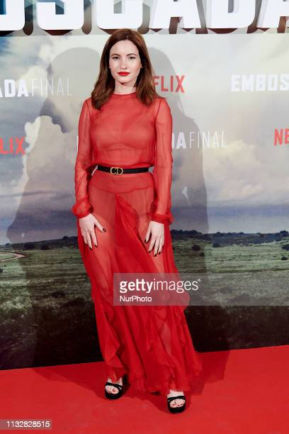 Ivana Baquero attends the 'The Highwaymen' Netflix premiere at Capitol Cinema in Madrid Spain on Mar 25 2019