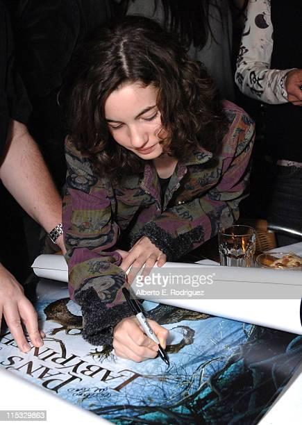 Ivana Baquero during Dinner for Guillermo Del Toro at Pane e Vino in Los Angeles California United States