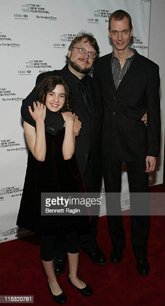 Ivana Baquero Guillermo del Toro and Doug Jones during 44th New York Film Festival Presents the US Premiere of Pan's Labyrinth as The Closing Night...