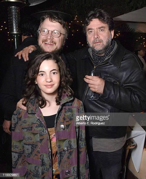 Ivana Baquero Guillermo del Toro and Guillermo Navarro